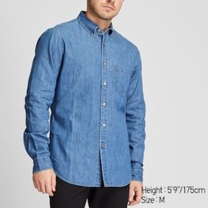 Uniqlo Chambray Button Down Long Sleeve